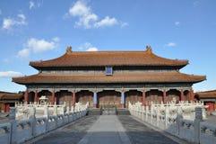 Huangji Hall в запретном городе Стоковое Изображение