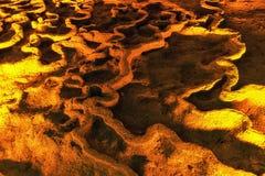 huanglong σχηματισμοί και τοπίο σπηλιών Στοκ Εικόνες