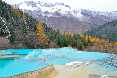 Huanglong, China. Colorful ponds in Huanglong, China Royalty Free Stock Photography