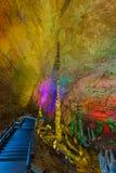 Huanglong Dragon Cave - China amarelos imagens de stock royalty free