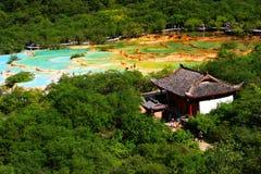 Huanglong in estate Fotografia Stock