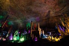 Huanglong grotta, Zhangjiajie Kina Arkivfoto