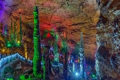 Huanglong gula Dragon Cave - Kina arkivbild