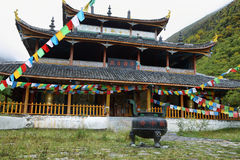 Huanglong Middle Temple in Huanlong scenic Area Royalty Free Stock Images