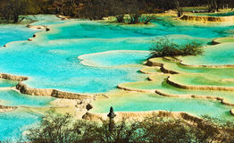 Huanglong Mineral Pool Royalty Free Stock Images