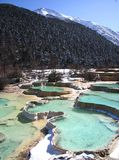 Huanglong National Park. Brightly coloured pools at Huanglong, Sichuan Royalty Free Stock Photos