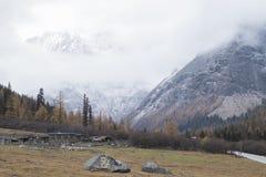 Huanglong nationalpark Royaltyfri Bild