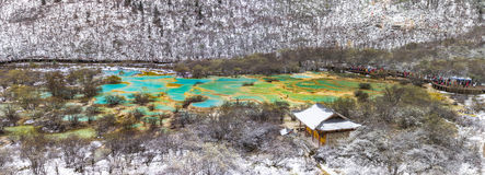 Huanglong panorama scenic stock images