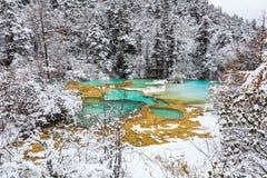 Huanglong pendant l'hiver Photos stock