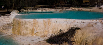 Huanglong pool Stock Photo