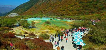 Huanglong scenic area in China Royalty Free Stock Images