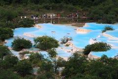 huanglong sceniczny obszaru Obrazy Stock