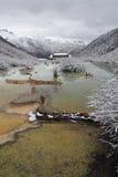 Huanglong sceniskt område i porslin Arkivbilder