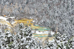 Huanglong, Sichuan, China. Winter of Huanglong, Sichuan, China Stock Photo