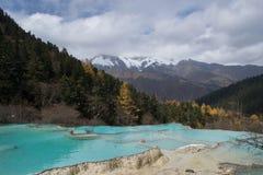 Huanglong, Sichuan, CHINY Zdjęcie Royalty Free