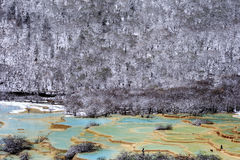 Huanglong. Snow season in China, Huang-long national park Royalty Free Stock Image