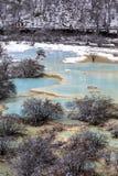 Huanglong. Snow season in China, Huang-long national park Stock Images