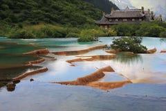 Huanglong szenischer Bereich Stockbilder