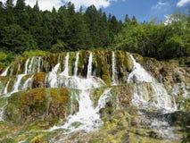 Huanglong waterfall Stock Photo