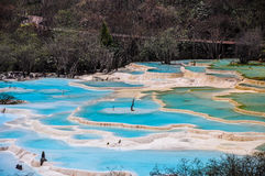 Huanglong, Yellow Dragon Valley, China Royalty Free Stock Images