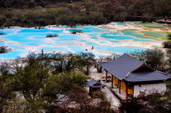 Huanglong, Yellow Dragon Valley, China Royalty Free Stock Photo