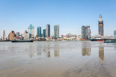 Huangpu river beach scenery Stock Photos