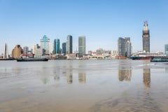 Huangpu river beach scenery Stock Photos