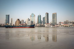 Huangpu river beach scenery Royalty Free Stock Images