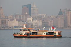 Huangpu River ferry, Shanghai Stock Photography