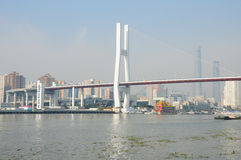 Huangpu River and Nanpu Bridge Stock Image