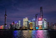 Blue Hour at Pudong royalty free stock photo