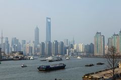 The Huangpu River in Shanghai,China Stock Photography