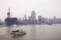 The Huangpu River in Shanghai,China Royalty Free Stock Image