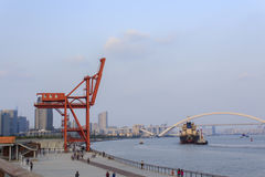 Huangpu river, Shanghai Stock Photography