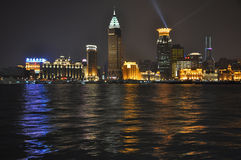 Huangpu River Shanghai at night Stock Images