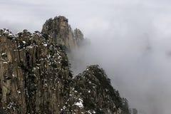 Huangshan Żółte góry Porcelanowe Zdjęcia Royalty Free