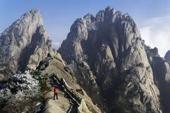 Huangshan Żółte góry Porcelanowe Zdjęcia Stock