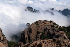 Huangshan (κίτρινο βουνό) Στοκ φωτογραφία με δικαίωμα ελεύθερης χρήσης