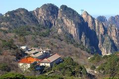 Huangshan amarela montanhas, província Anhui, China Imagens de Stock Royalty Free