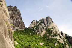 Huangshan, beautiful mountains Stock Photo
