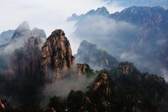 Huangshan berg Royaltyfri Foto