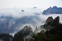 Huangshan berg Royaltyfria Bilder