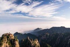 Huangshan-Berg in Anhui, China stockbild
