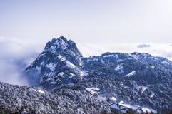 Huangshan-Bergblick nach Schnee Lizenzfreies Stockfoto