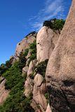 Huangshan in the blue sky Stock Images