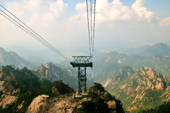 Huangshan Cable tower, incredible china Royalty Free Stock Image