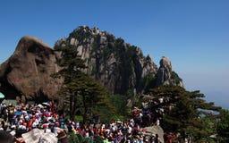 Huangshan-Gebirgslandschaft stockbild