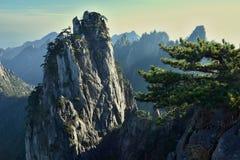 Huangshan, Gele bergen, in Anhui-provincie in China royalty-vrije stock foto's