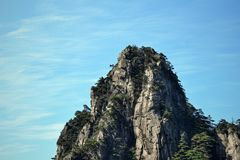 Huangshan gula berg, i det Anhui landskapet i Kina Arkivfoton