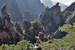 Huangshan gula berg, i det Anhui landskapet i Kina Fotografering för Bildbyråer